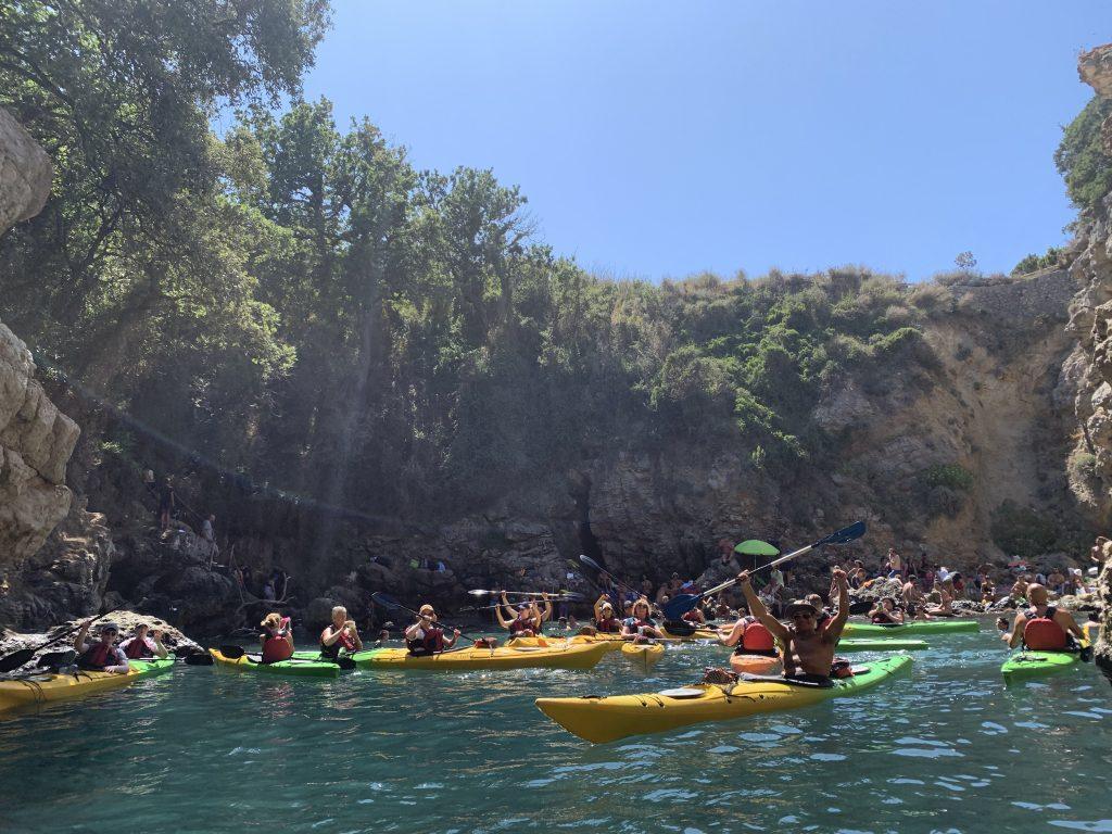 Queen Johanna's kayak tour from Sorrento
