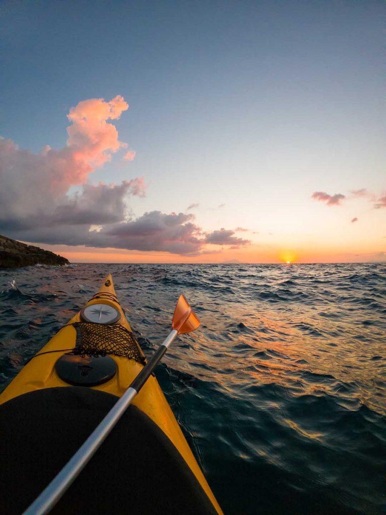 Kayak tour at Sunset in Sorrento