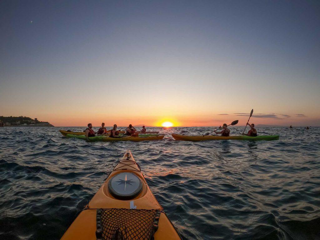 Shared kayak tour at Sunset